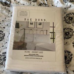 """Rae Dunn king sheets deep pocket up to 18"""""""